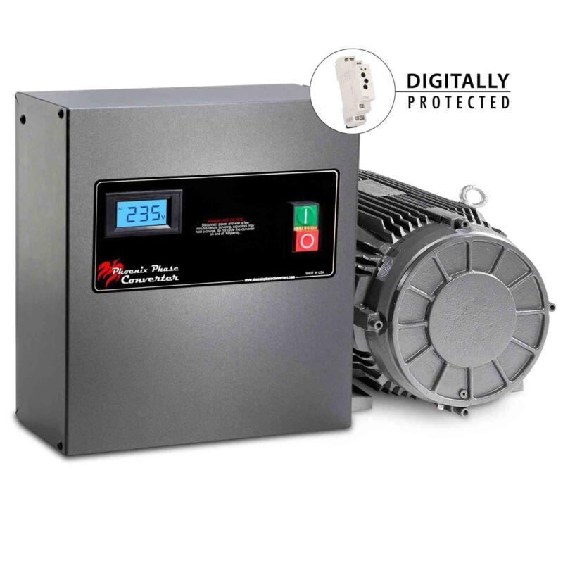 Rotary Phase Converter - 10 HP - CNC Grade, GP10P4LV