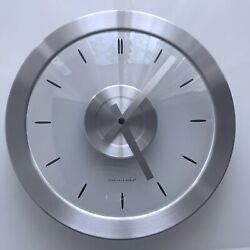 Beautiful Transparent Sterling and Noble 12 Wall Clock.