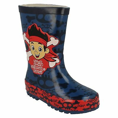 BOYS KIDS DISNEY JAKE AND THE NEVERLAND PIRATES WELLIES WELLINGTON SNOW - Jake And The Neverland Pirate Boots