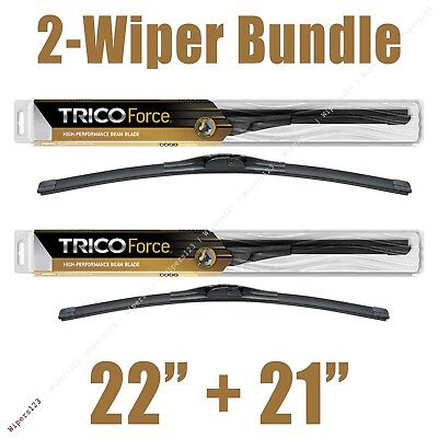 2 Wipers 22  21 Trico Force All Season Beam Wiper Blades   25 220 25 210