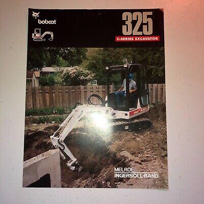 Bobcat Model 325 C Series Excavator Sales Literature And Specifications