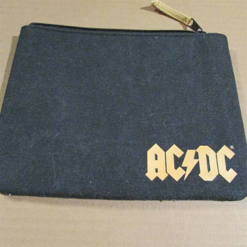 """AC/DC Rock By Junk Food Padded Canvas Bag CLUTCH Pouch 7x9"""""""