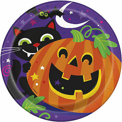 8 Happy Halloween Friendly Pumpkin Party Disposable Large 9