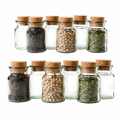 12 Gewürzgläser 150ml + Korken, Tee Kräuter Gewürze Gewürzdose Korkenglas Glas online kaufen