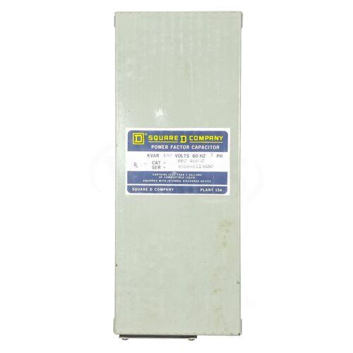 Square D PFC4005C Power Factor Capacitor, 480V 60Hz 3-Phase, 5KVAR