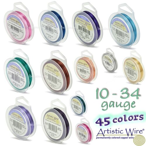 Artistic Wire ~ (45 COLORS) Tarnish-Resistant, Silver, Copper Craft Wire