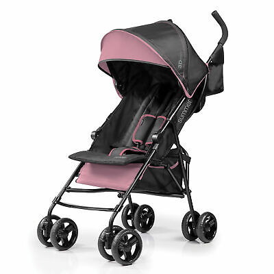 Summer Infant 3Dmini Folding Convenience Toddler Baby Stroller, Pink (Open Box)