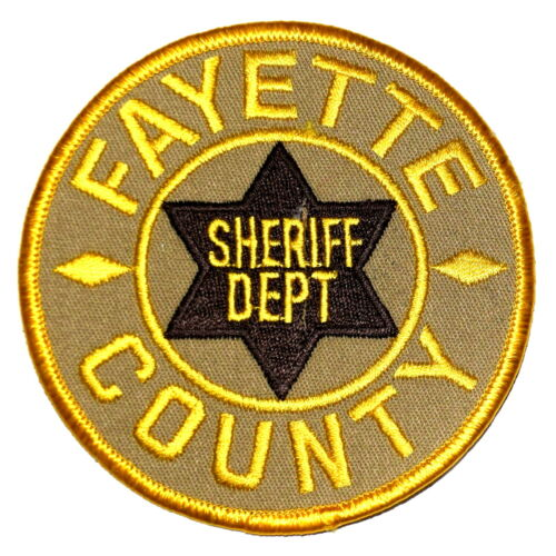 FAYETTE COUNTY TENNESSEE TN  Sheriff Police Patch BROWN STAR OLD ~