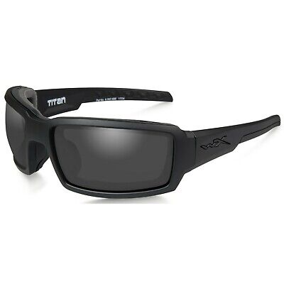 Wiley X Titan Sunglasses, Smoke Grey Lens / Matte Black Frame CCTTN01 FREE (Titan Sunglasses)