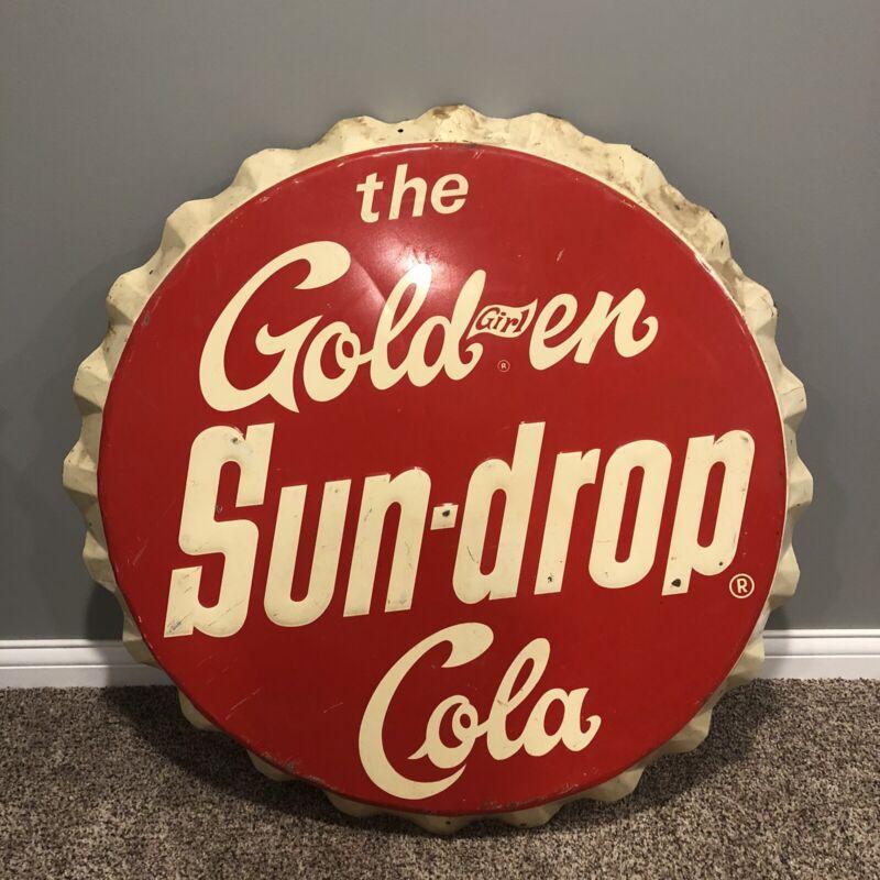 The Golden Girl Sun Drop Cola 34 Inch Bottle Cap Sign