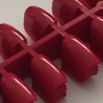 96  ( 4 x 24) Künstliche Fingernägel Full Size Cover Tips Rot Nails