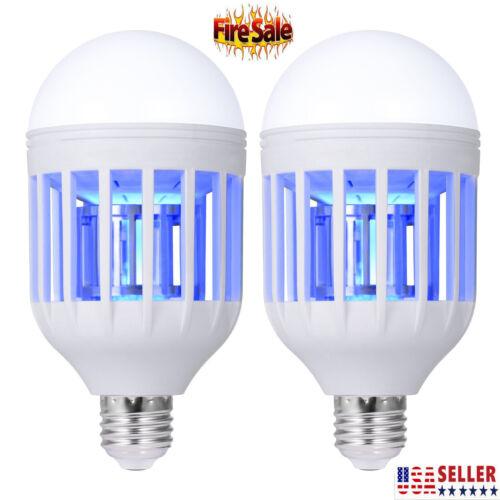 2 Pack Light Zapper LED Lightbulb Bug Mosquito Fly Insect Ki
