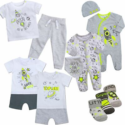 Baby Boys Clothing Sets Outfits Sleepsuit T-shirt Jogger Romper All In 1Onesie