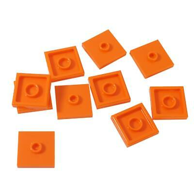 10 NEW LEGO Plate,Modified 2 x 2,Groove and 1 Stud in Center (Jumper) Orange