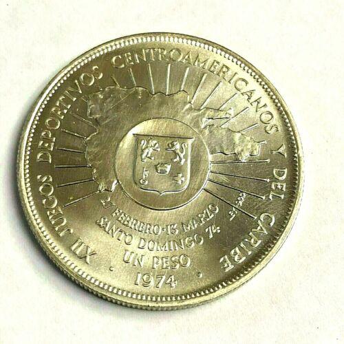 1974 DOMINICAN REPUBLIC SILVER PESO, 26.7g 90%