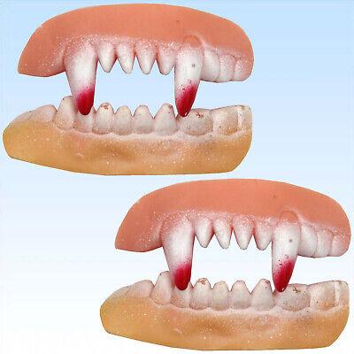 2 Paar Vampir Gruselgebiss Halloween für Kostüm  Vampir Horror Gebisse Zähne