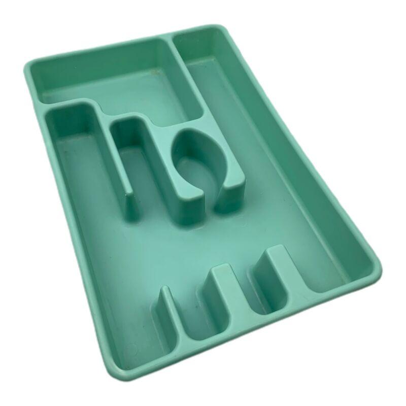 Vintage Rubbermaid Silverware Flatware Tray Vintage Utensil Organizer Blue 2921