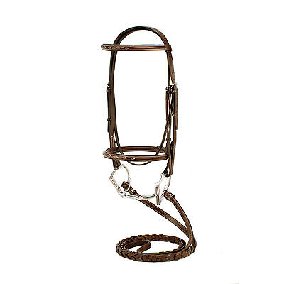 NEW Silverleaf Cob Fancy Square Raised Bridle with Matching Reins 97-4006C-AW