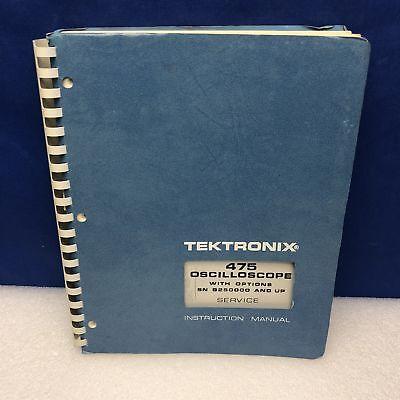 Tektronix 475 Oscilloscope Woptions Sn B250000 Up Service Manual Wschematics