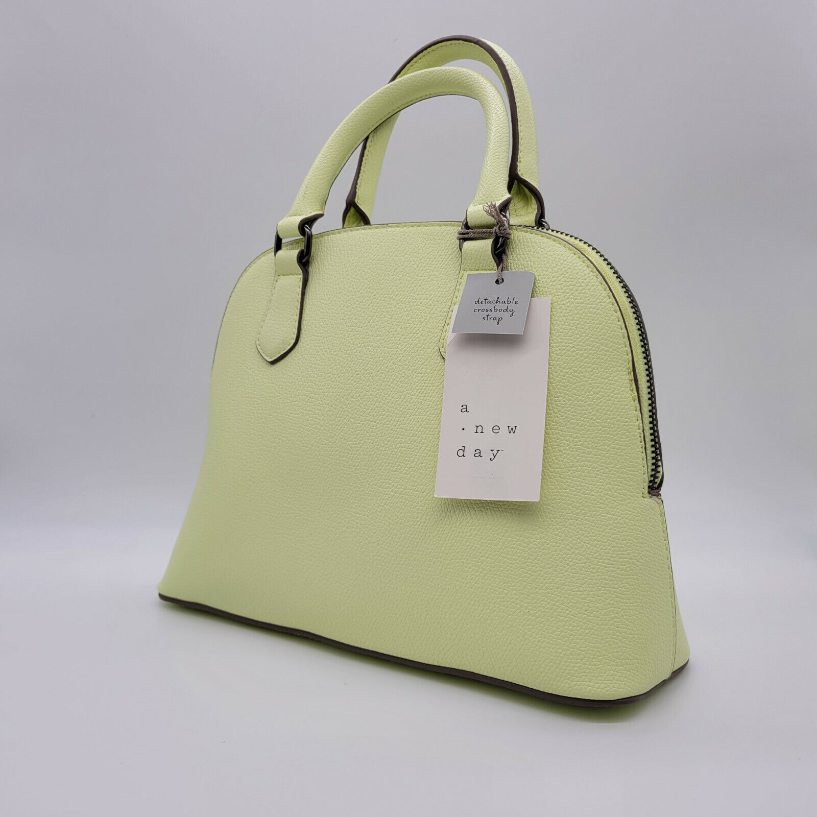 WOMEN'S SMALL DOME SATCHEL HAND BAG - A NEW DAY CITRUS GREEN