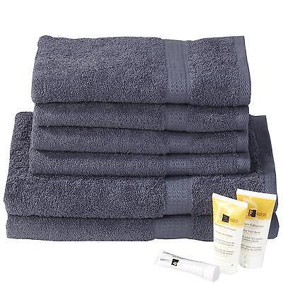 4x Handtücher 2x Duschtücher anthrazit Badetuch Set Frottee 100% Baumwolle 6-tlg