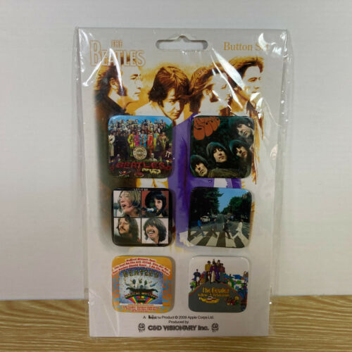 The Beatles Button Set of 6 - Pins Set - Album Covers - Brand New - FREE SHIP