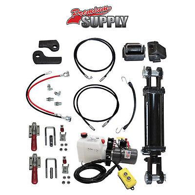 Hydraulic Tilt Deck Kit For Trailers - Tie Rod 3tr Premium Supply Hydraulic Kit