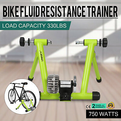 Indoor Bike Trainer Stand Fluid Resistance Exercise 24lbs Po