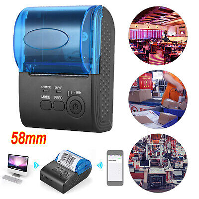 Mini 58mm Bluetooth Wireless Thermal Receipt Printer F Ios Android Windows Q2j6