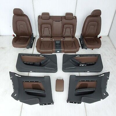 2013 AUDI A5 INTERIOR FRONT REAR BROWN LEATHER SEATS DOOR PANELS ARMREST KIT OEM