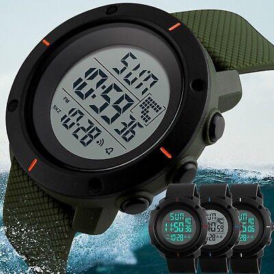 - Fashion Men's Military LED Digital Date Countdown Timer Sport Quartz Wrist Watch
