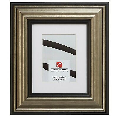 21307202 12x18 Aged Silver & Black Picture Frame Matted to D