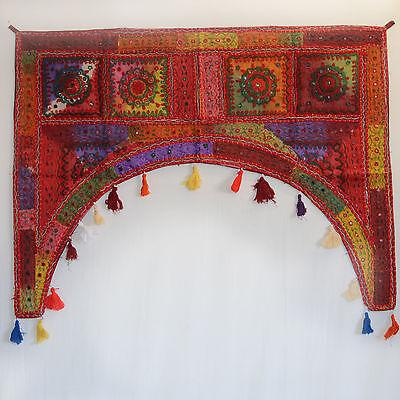 PRACHT-Türbehang,Patchwork-Toran/ THORANG Indien Wandbehang Goa Hippie BUNT