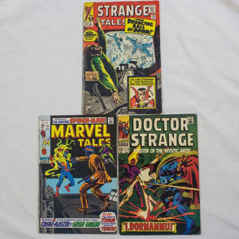 MIXED LOT OF MARVEL COMICS - SILVER AGE - STRANGE TALES, DR STRANGE, SPIDERMAN