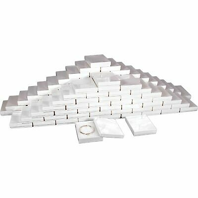 Cotton Filled Jewelry Gift Boxes White 5 38 100pcs