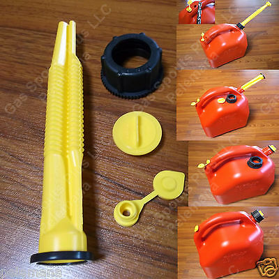 Scepter Fix Your Gas Can Kit Spout Parts Screw Cap Collar Stopper Yellow Vent