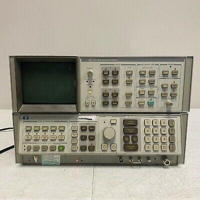 Hp 8566b Spectrum Analyzer 100 Hz 2.5 Ghz 2-22 Ghz W Analyzer Display Tested