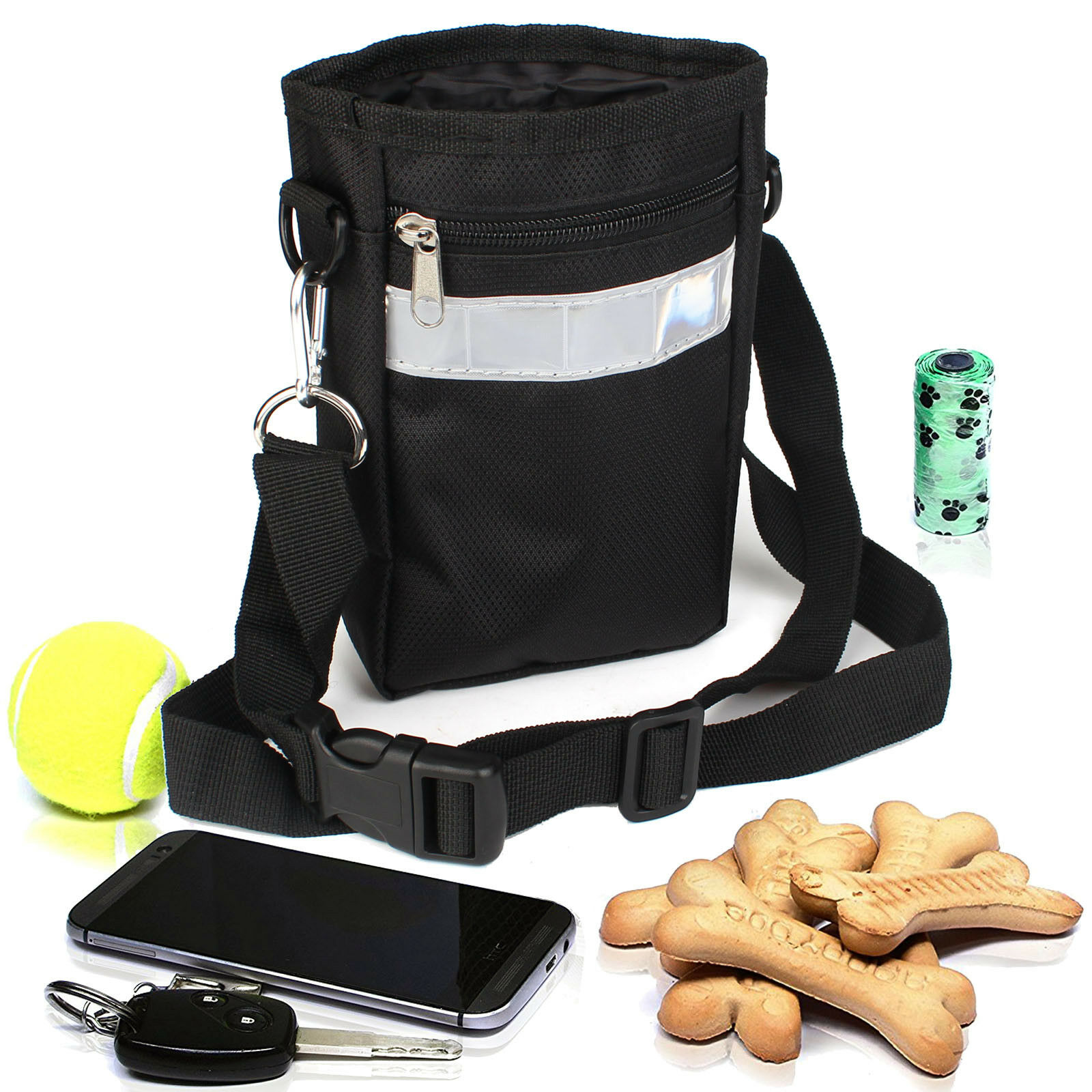 Dogs Cats Puppy Treat Pouch For Outdoor Training Travel Pet