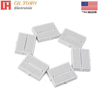 6pcs White Breadboard Syb-170 Tie-points Solderless Prototype Pcb Circuit Board