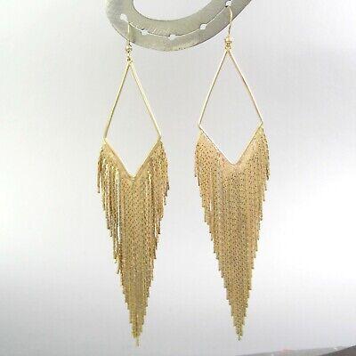 Long Dangling Gold Metal Hook Earrings Women Bohemian Mesh - Gold Mesh Earrings