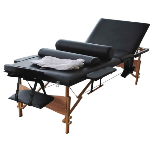 Massage Table 84in.L 3-Fold Portable Facial Spa Tattoo Physi