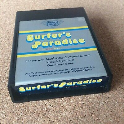 Atari 2600 Surfer's Paradise by Video Gems, RARE! Excellent Condition, WORKING