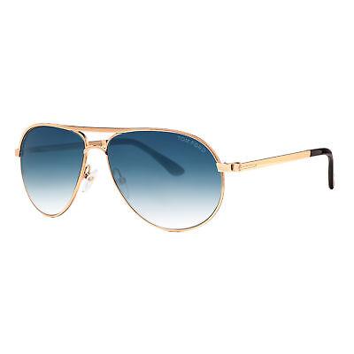 77229c0954 Tom Ford Marko TF 144 28W Gold Blue Gradient Men s Aviator Sunglasses