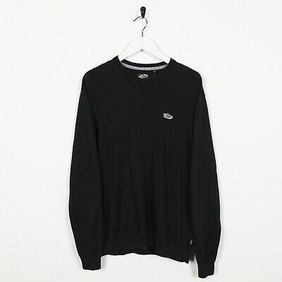 Vintage VANS Small Logo Lightweight Sweatshirt Jumper Black | Small S
