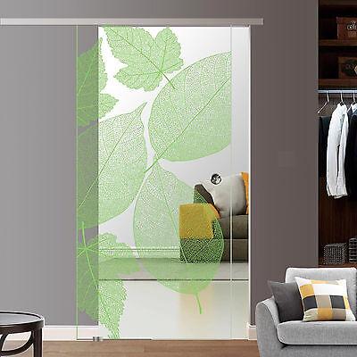 Grünes Glas-türen (Soft Stop Siebdruck Glasschiebetür Glastür Glas Schiebetür 775/900/1025x2050 BF1)
