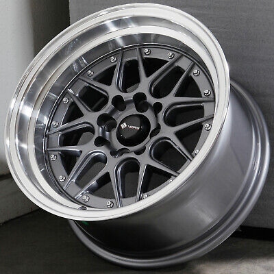 15x9 Gun Metal Wheels Vors VR7 4x100/4x114.3 0 (Set of 4)