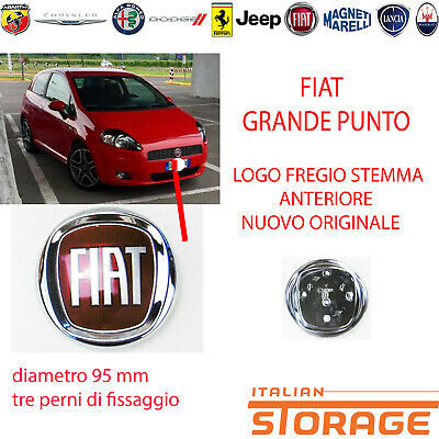 Fiat Grande Punto Logo Friso Armas Delantero Original Diámetro 95MM 51932710