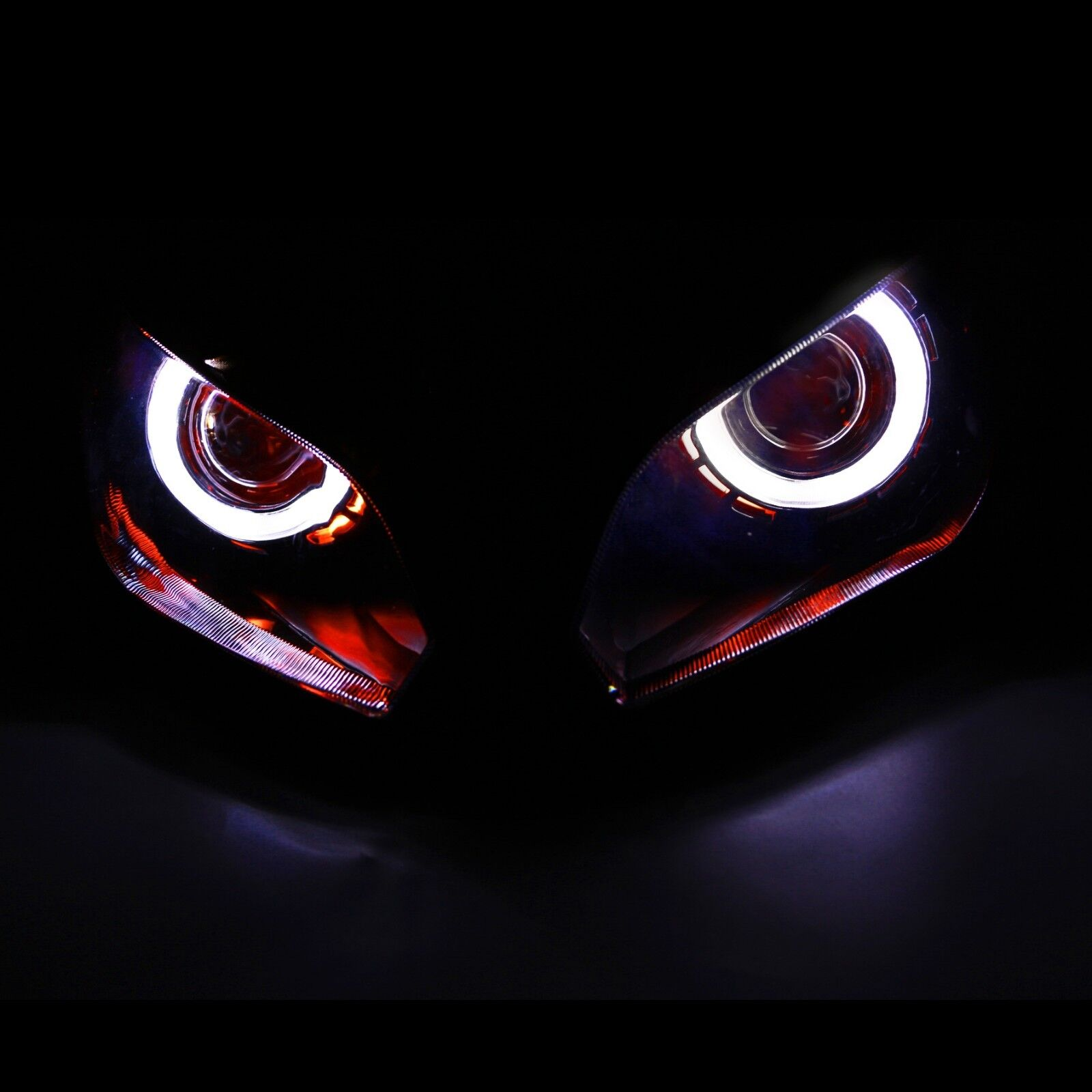 Demon Angel Eye HID Projector Headlight embly For ... on