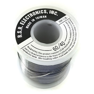 Rosin Core Solder 1 Pound Roll - 6040 - Thickness .062