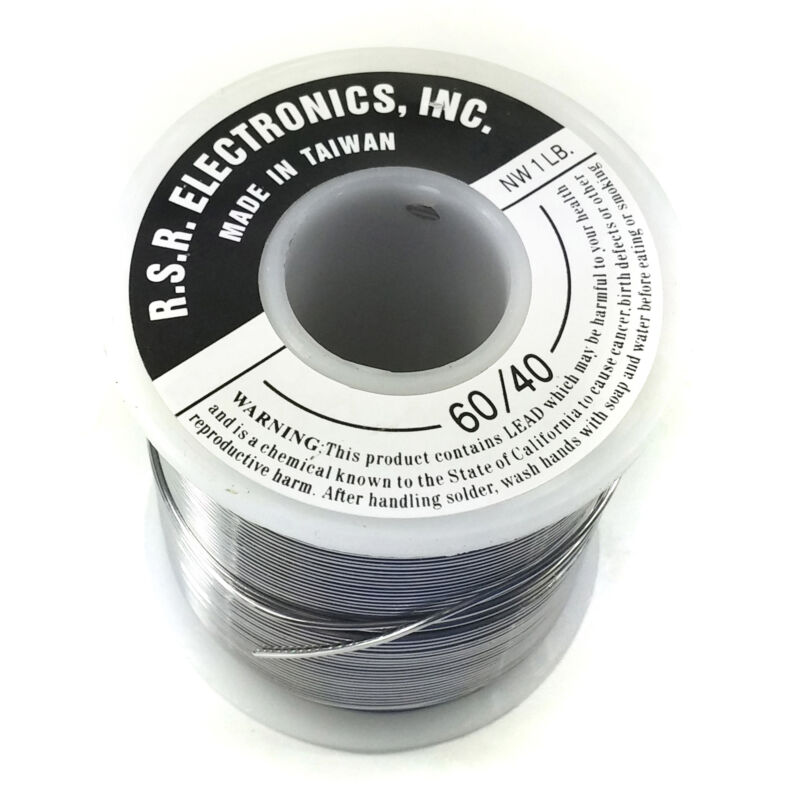 """Rosin Core Solder 1 Pound Roll - 60/40 - Thickness .062"""""""